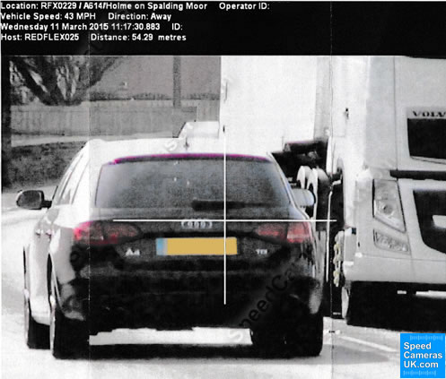 Mobile Speeed Camera Targets Car